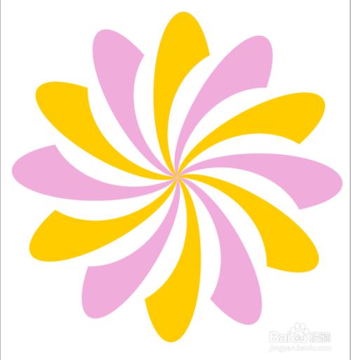 怎样用coreldraw制作炫丽的花朵图标图片