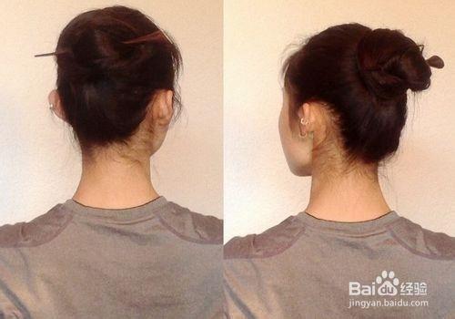 视频教程:教你如何用发簪盘发图片
