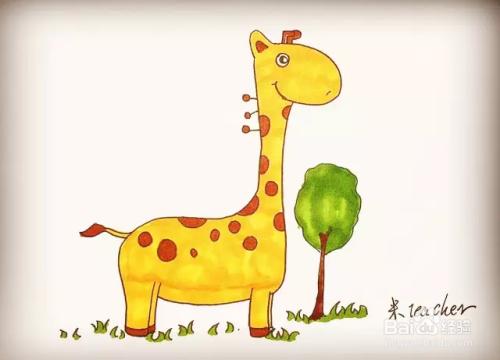 简笔画怎么画长颈鹿
