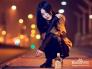 喝酒的女人图片