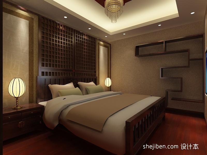 中式卧室吊顶装修效果图大全2013图片 高清图片