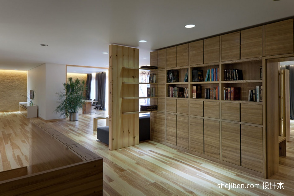 现代简约书房装修效果图大全2013图片 书柜图片 高清图片