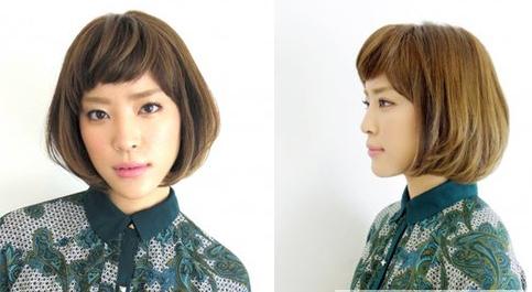 最新女生中短发烫发发型 打造轻松灵动卷发图片