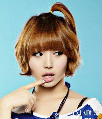 几款韩式短中发烫发发型告别宅女变美女图片
