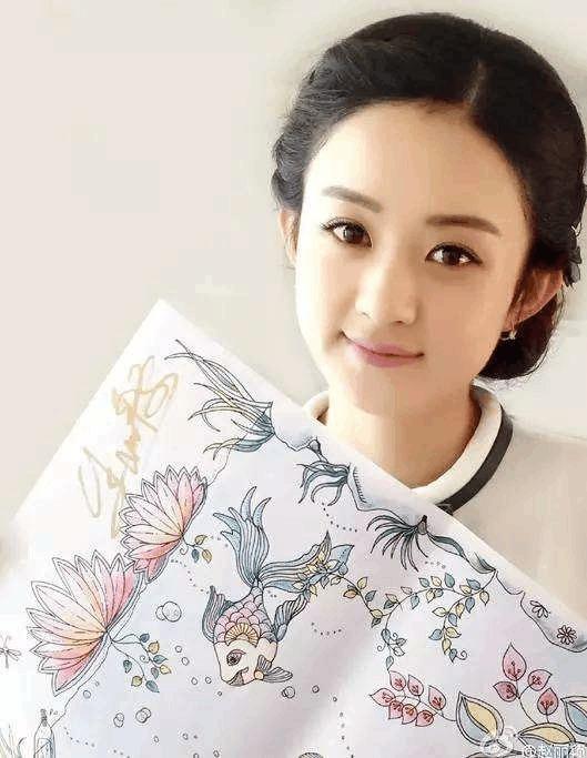 赵丽颖丸子头发图片展示图片