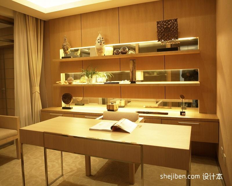 2013现代风格复式最新家装书房书架椅子书桌装修效果图欣赏 高清图片