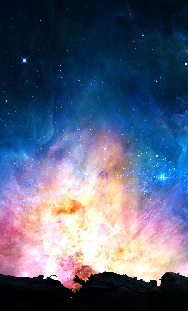 4k高清壁纸 夜幕临 美轮美奂的星空图