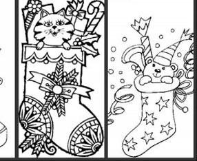 高清下载 卡通圣诞铃铛简笔画 幼儿圣诞袜简笔画图片
