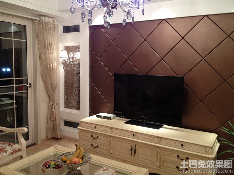 欧式硬包电视背景墙装修效果图大全 高清图片