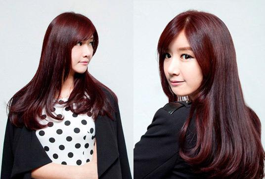 韩式中长发烫发发型 胖脸变瘦脸减龄又青春图片