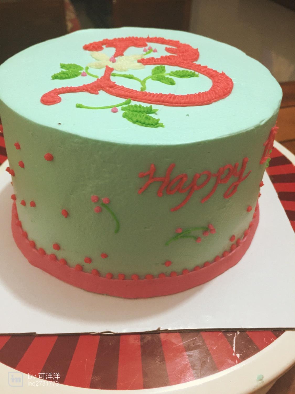 个性 刺绣风格蛋糕的做法图片