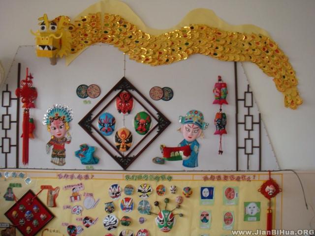 京剧脸谱简笔画大全幼儿园京剧脸谱主题墙-幼儿园大班墙面设计图片
