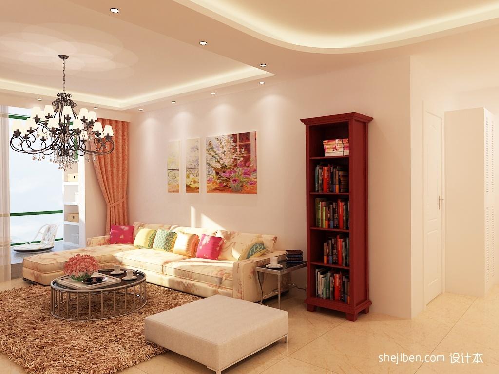 90平米两室两厅客厅装修效果图 2012客厅吊顶效果图 高清图片