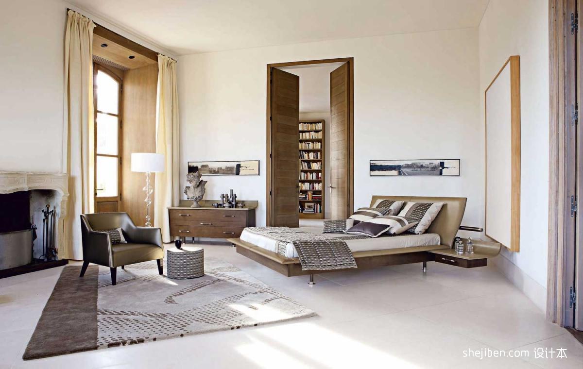 2013现代风格复式清新小卧室书房过道落地窗帘装修效果图 高清图片