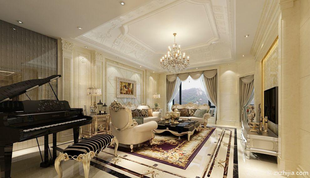 精萃 奢美之最四室两厅欧式客厅装修效果图_装修之家装修效果图图片