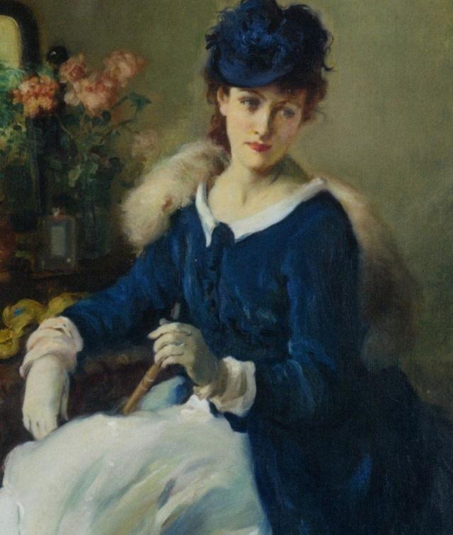 一个后19世纪印象派画家眼里的法国贵妃生活图片