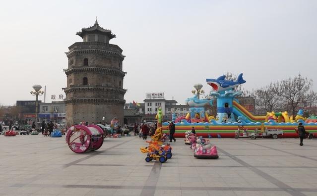 托塔天王李靖宝塔的塔基在郓城——郓城唐塔图片