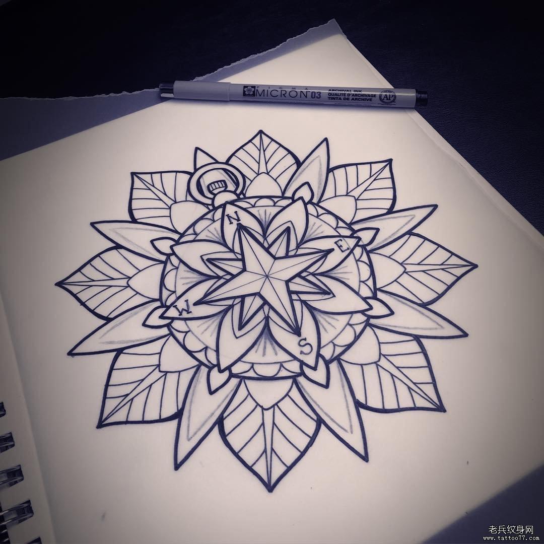 曼陀罗 纹身手稿_曼陀罗 纹身手稿_曼陀罗 纹身手稿 (1080x1080)-图片