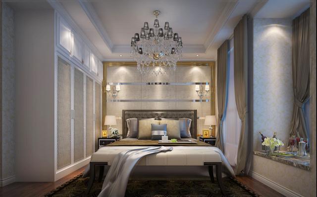 郑州一号家居网海马公园三室两厅欧式风格装修案例效果图图片