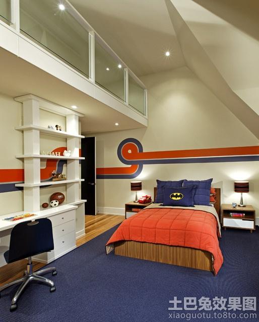 阁楼卧室书房装修效果图大全2013图片 高清图片
