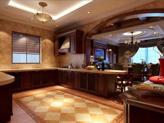 800㎡奢华别墅美式风格效果图图片
