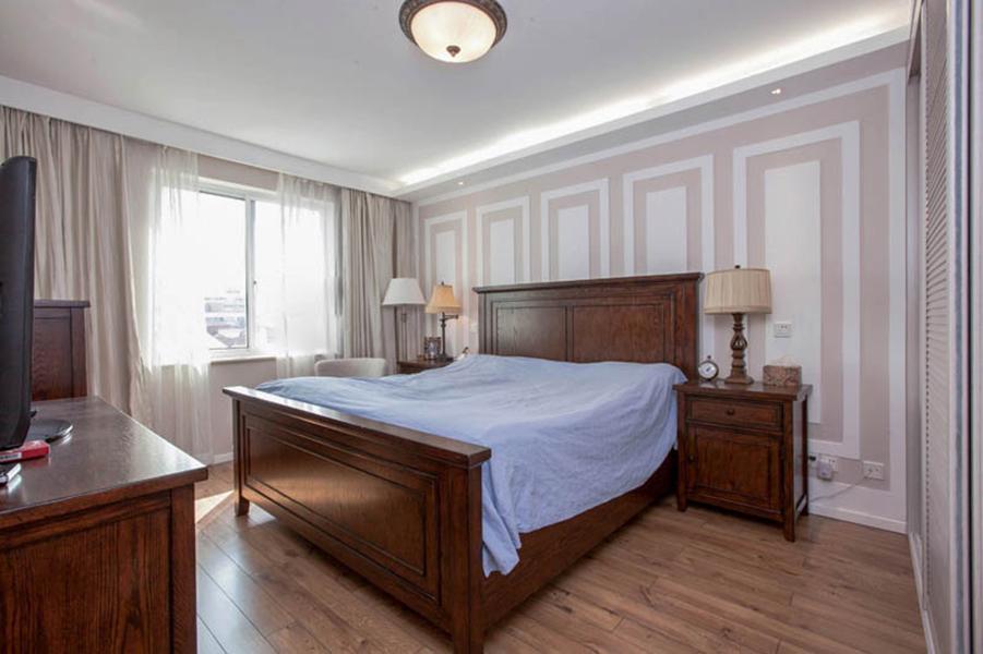 2016美式浅色世界三居室装修效果图图片