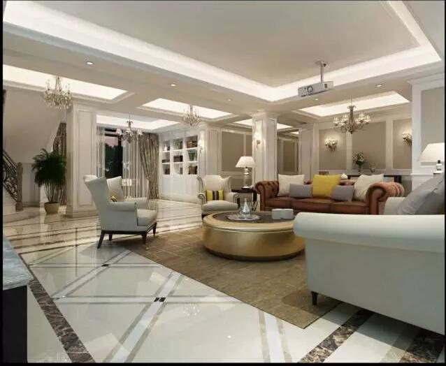 简欧风格豪宅别墅设计案例图图片