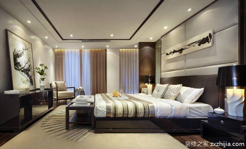 中式风格素雅黄色卧室装修设计_装修之家装修效果图图片