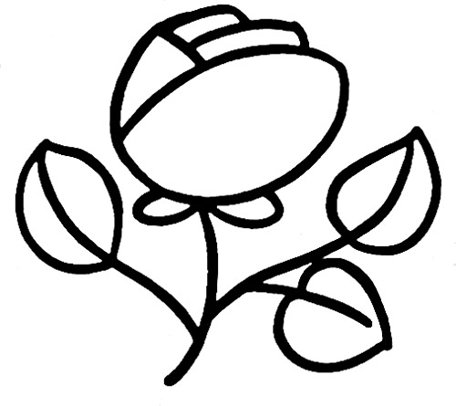 幼儿 儿童简笔画玫瑰花画法图式 u2014 u2014跟我-简笔画玫瑰的画图片