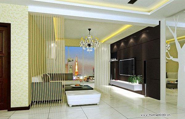 86款现代风格客厅电视背景墙装修效果图大全2012图片让客厅楚楚动人图片