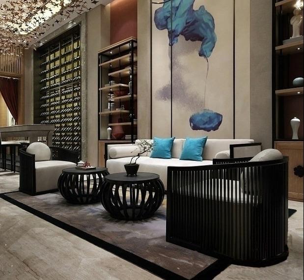 沙发组合,最美不过新中式,彰显出了大气沉稳的装修风格图片