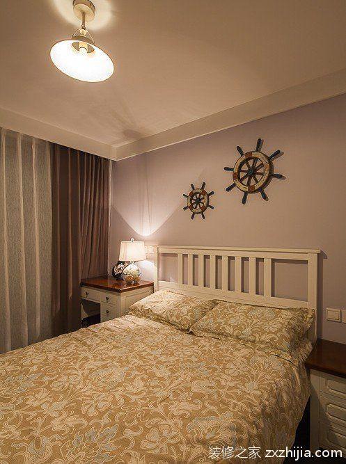 米色美式风格卧室装潢案例_装修之家装修效果图图片
