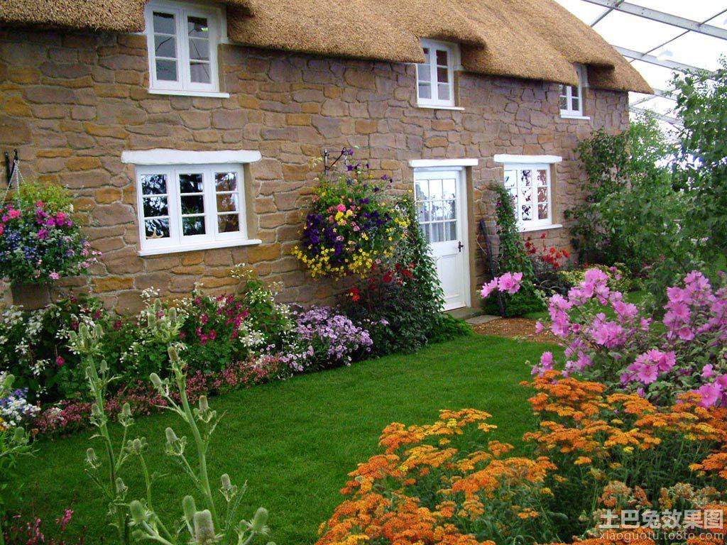 农村别墅花园设计 高清图片