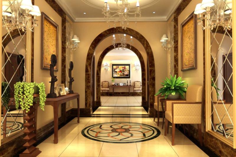 美式风格中户型100平方米二室二厅房屋卫生间浴室柜飘窗灯具装修效果图片