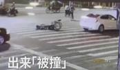 男子坐轮椅碰瓷 听见要看监控站起来就跑