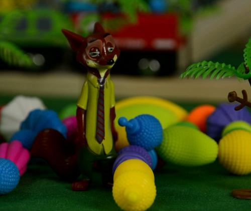 狡猾的尼克,疯狂动物城,安迪尼克,阿紫玩具