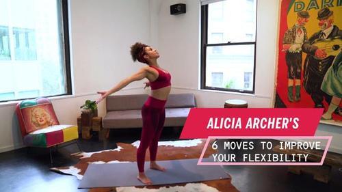 瑜伽之前先做这6个拉伸动作,提高灵全身活性,燃脂塑形立竿见影
