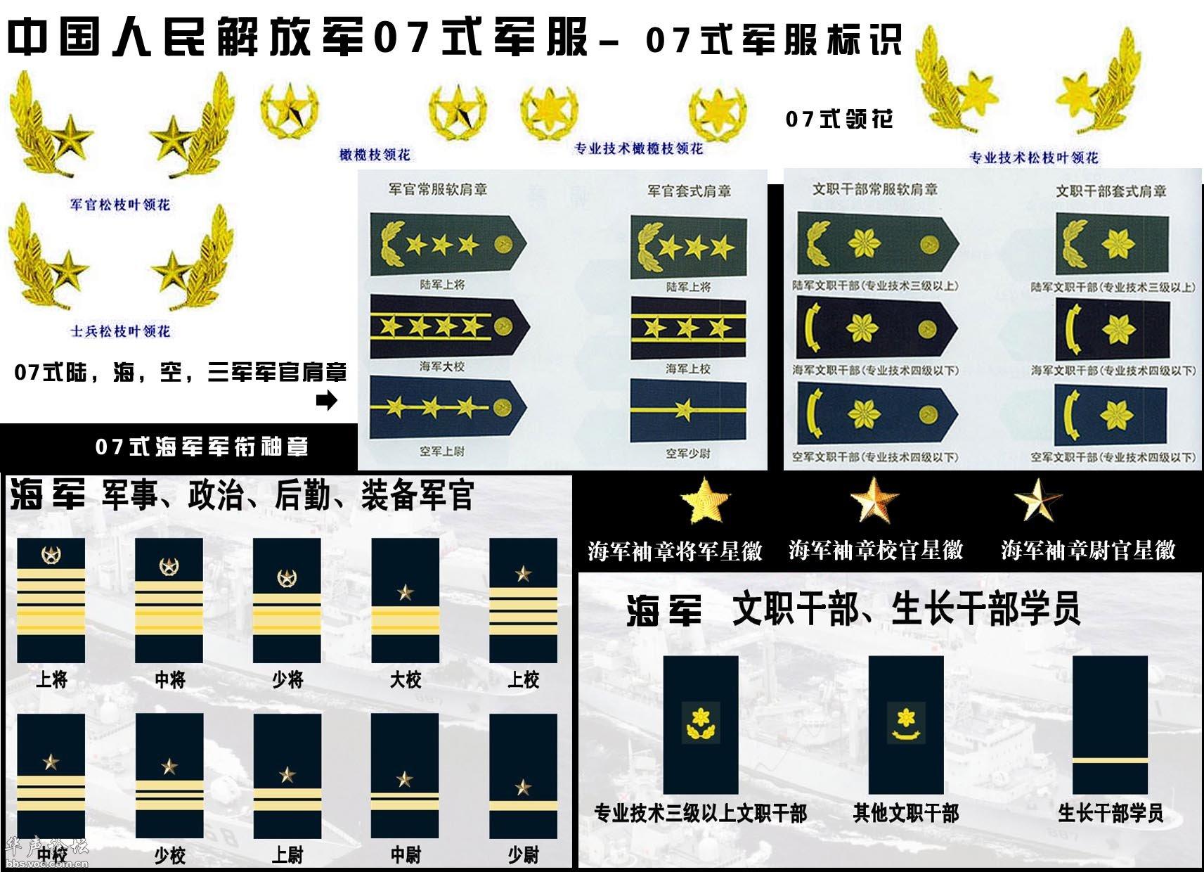 解放军军衔 [转载]解读中国人民 解放军军衔等级 与肩章标志 中国人民