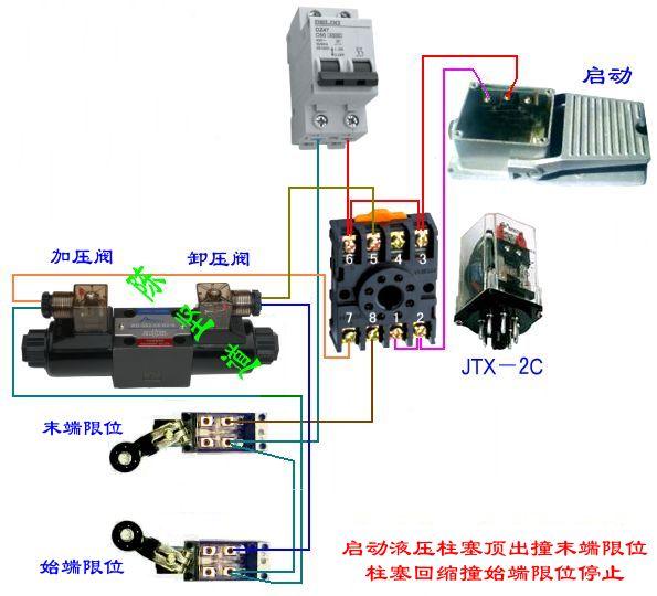 220v接触器接行程开关图片