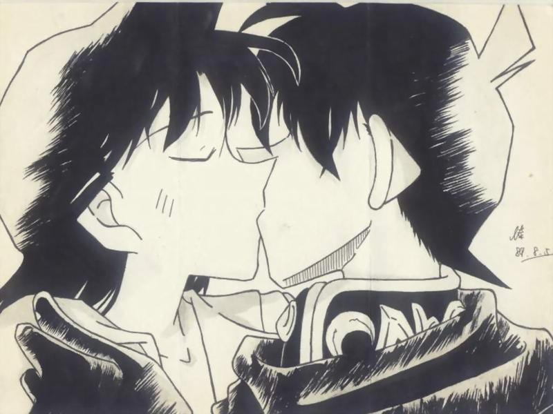 新一和小兰_新一小兰的接吻