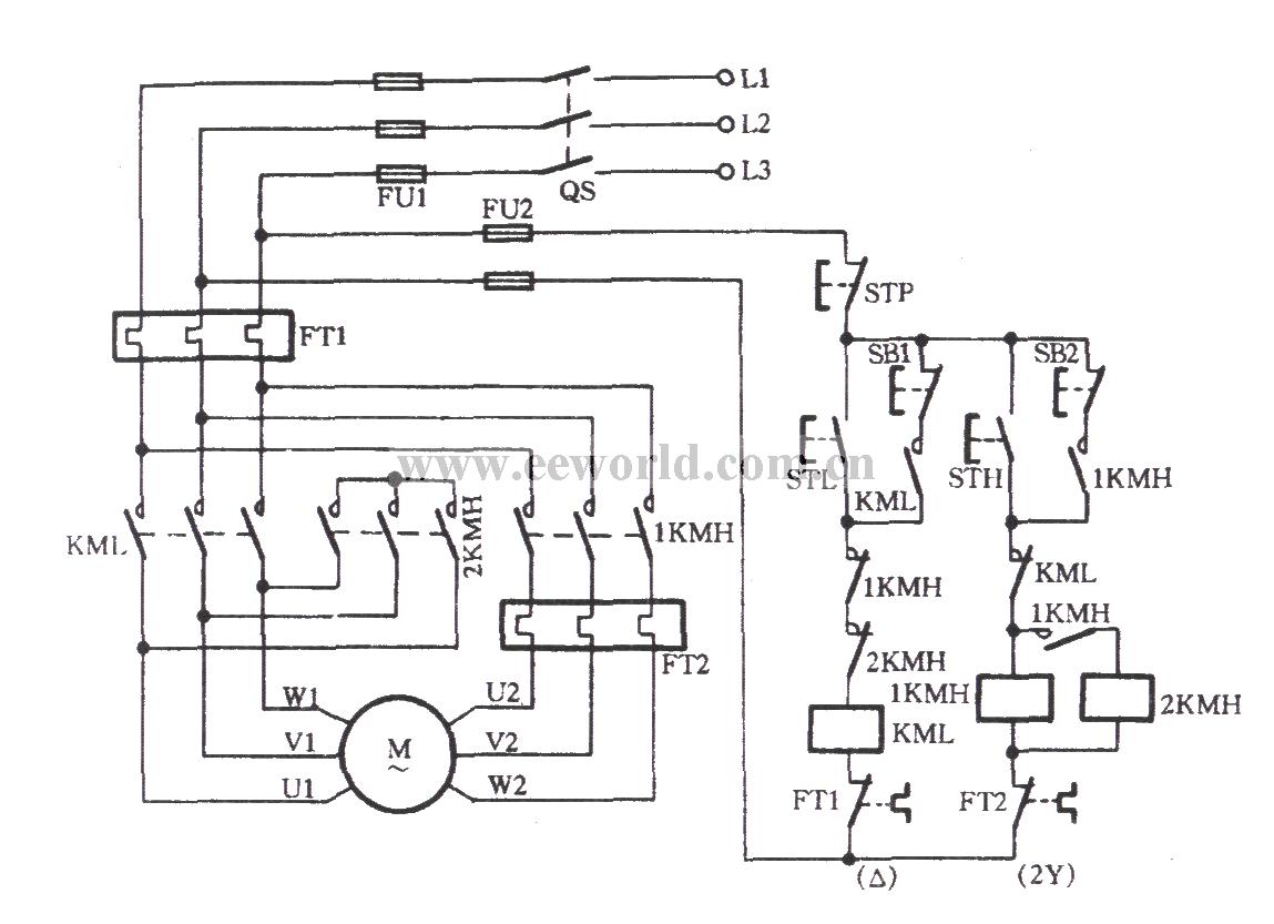三相异步电动机双速电机有12根出线正反转控制电路图 百度知道