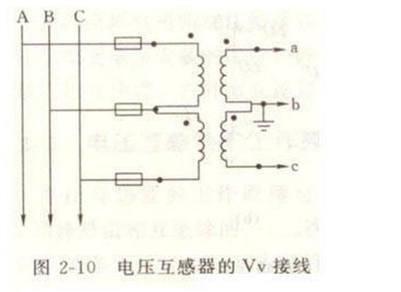 电压互感器vv接线,高压侧c相熔管熔断图片