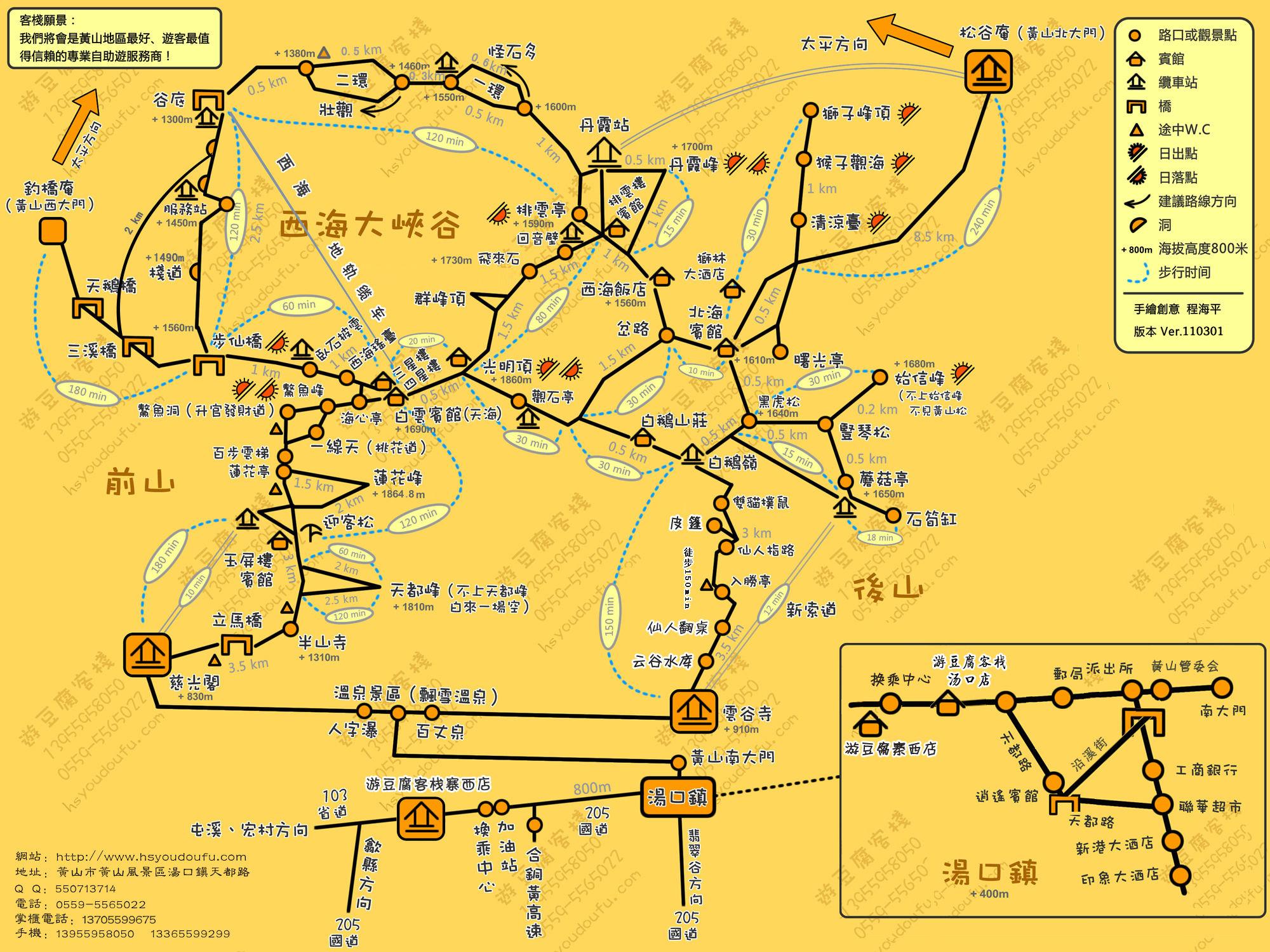 游黄山最佳路线