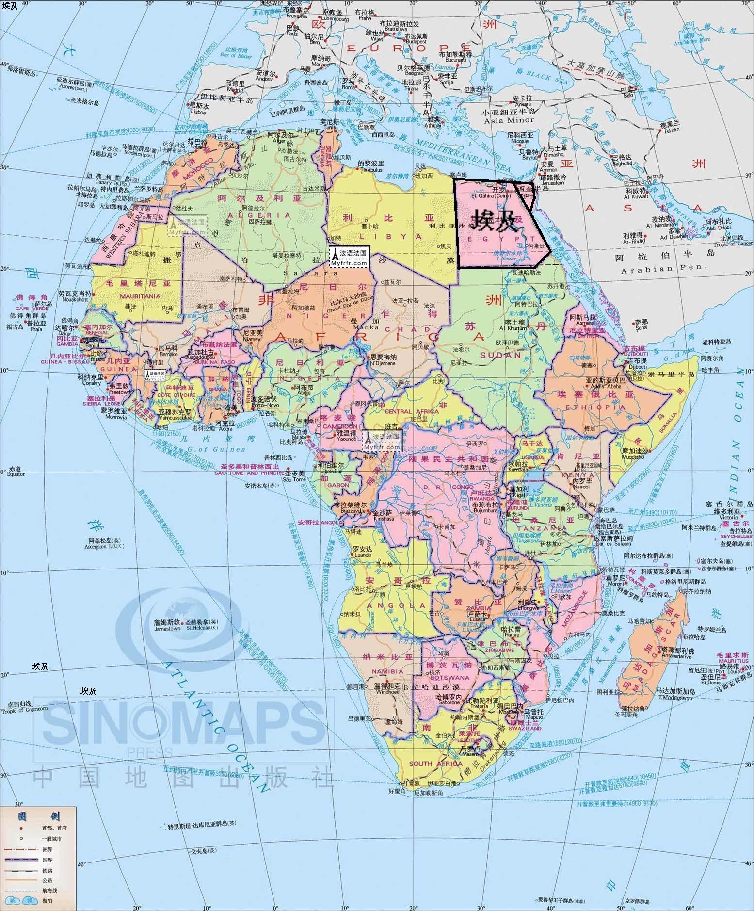 埃及的地理位置埃及的地理位置