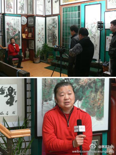 中国当代最有名气的仕女画家是孙光吗