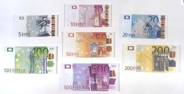 100欧元是什么样子的图片