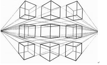 9个正方体透视图图片