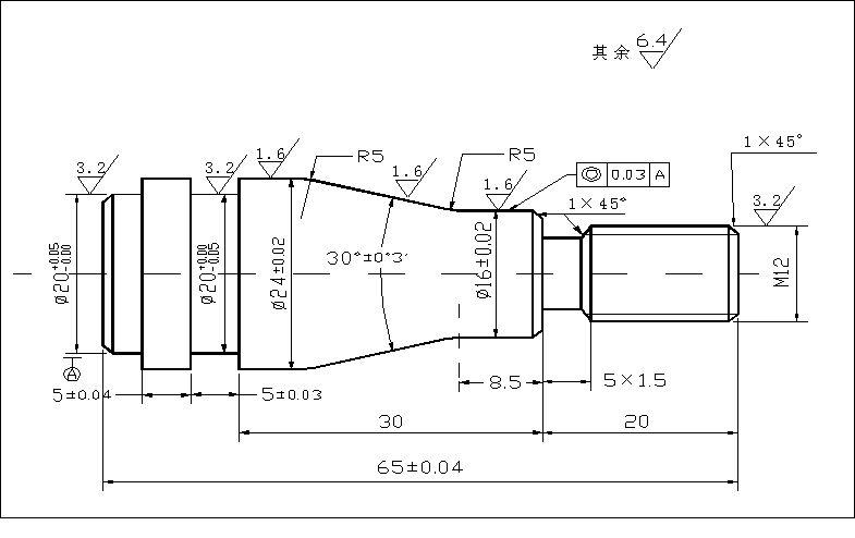 数控轴类加工_轴类零件的编程与数控机床加工设计附答辩记