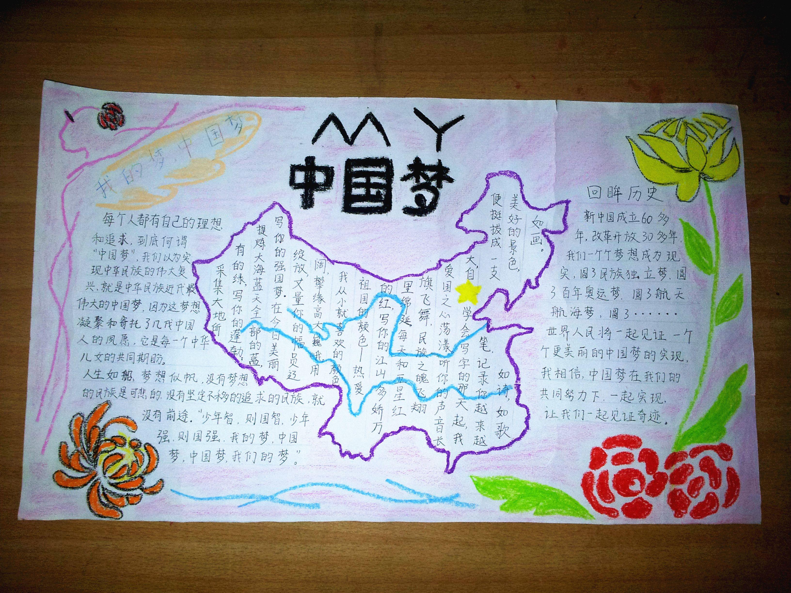 推广普通话共筑中国梦的手抄报