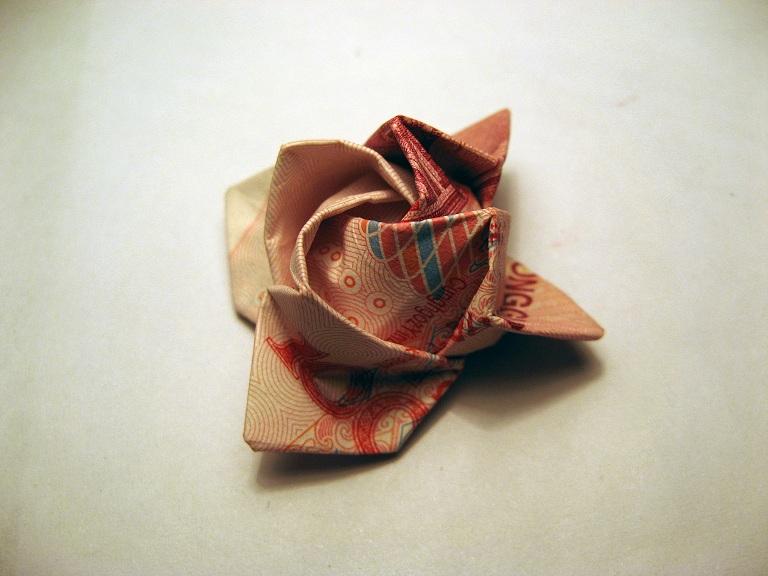 from:紙幣玫瑰花折法紙幣的折法紙http